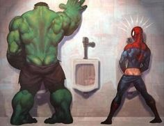 funny pictures, spiderman and the hulk