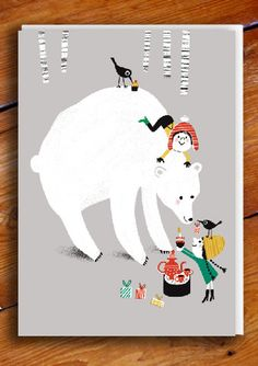 Bears Tea Party Greetings Card