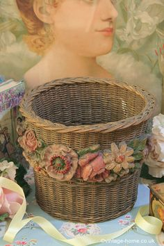 Vintage Home - Rare Barbola Basket: www.vintage-home.co.uk