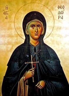 Sfânta Cuvioasă Teodora din Tesalonic Byzantine Art, Mona Lisa, Artwork, Movies, Movie Posters, Icons, Work Of Art, Auguste Rodin Artwork, Films