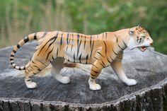 Porcelain Tiger Porcelain Animal Wild Animal Animal by Diamir Animal Decor, My Etsy Shop, Porcelain, Animals, Collection, Vintage, Porcelain Ceramics, Animales, Animaux