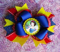 Snow White hair bow Princess headband bottle cap hair clip summer vacation accessory on Etsy, $7.50 adorable