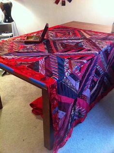 necktie quilt, via Flickr