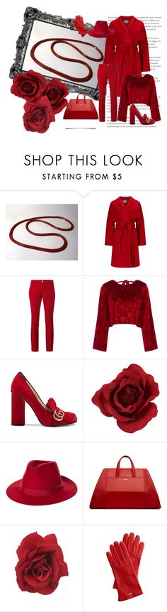"""""""Red chili pepper"""" by colchico ❤ liked on Polyvore featuring Chilli Pepper, Phase Eight, Gucci, Vjera Vilicnik, Brixton and Mark & Graham"""