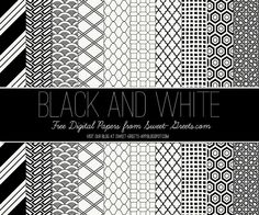 Free Digital Paper Set in Black and White, love these - will come in handy for my card making