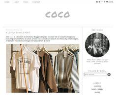 Blogger Template Premade Blog Design  Coco by Ello Themes #bloggertemplate #blog #minimalist #ellothemes