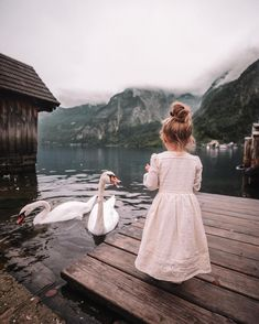 """92.5 mil curtidas, 917 comentários - AMBER FILLERUP CLARK (@amberfillerup) no Instagram: """"Morning chats with the swans in Hallstatt 🌿"""""""