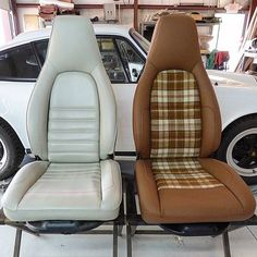 TheHogRing.com 13 mins ·  Before and after #porsche seats upholstered by @jngcreations Wow. What a difference! #upholstery #carinterior #autoupholstery #TheHogRing