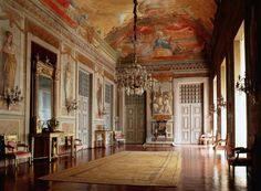 The Presence Room at Mafra Palace. Portugal.