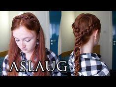 Vikings Hair Tutorial - 2 Simple Princess Aslaug Hairstyles