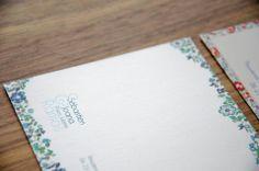 Cartes de correspondance liberty - RL2B DESIGN www.rl2b.com/ #carte #card #correspondance #liberty