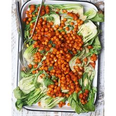 Salads can be a lot of fun. Sriracha- Chaat Masala Baked Chickpeas on top of some lightly grilled…