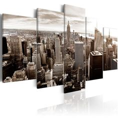 Quadri New York   QuadriperArredare.it Banksy, Art Rose, Tower Block, Manhattan New York, San Francisco Skyline, New York Skyline, Teak, Stylish, Abstract