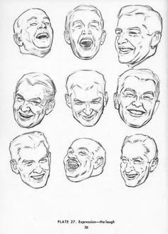 Drawing The Head And Hands - Andrew Loomis Male Face Drawing, Drawing Face Expressions, Drawing Heads, Human Drawing, Drawing Poses, Drawing Sketches, Art Drawings, Drawing Tips, Drawing Proportions
