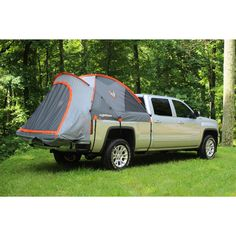 Experience camping in a dry truck bed, up off the ground. The tent features a floor-less design that allows you to set it up or take it down without removing your gear from the bed. A sky view vent, lantern hanging hook, and (2) gear pockets are included.