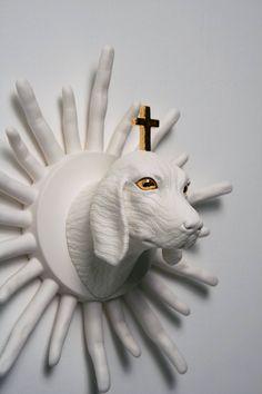 Surreal animal sculptures by South Korean artist Wookjae Mae.