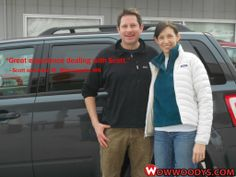 "Scott and Alice Macdonald from Minneapolis, Minnesota purchased this 2009 Ford Escape and wrote, ""5 stars! Great experience dealing with Scott, thank you for making the drive from Minneapolis a worth while experience."" To view similar vehicles and more, go to www.wowwoodys.com today!"