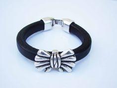 Sales & orders: 4me.bijuteria@gmail.com    Black leather bracelet with loop| Refª PLÇ001 - 10€