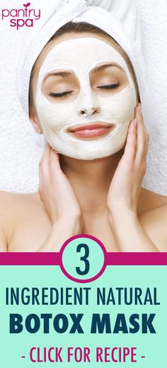 If you want to stay natural with your wrinkle treatment Dr Oz has a great Botox mask that you can affordably make at home There are only 3 ingredients and its very simple. Beauty Care, Beauty Skin, Hair Beauty, Diy Beauty Treatments, Skin Treatments, Beauty Secrets, Beauty Hacks, Tips Belleza, Natural Treatments