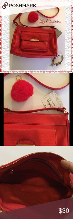 "Liz Claiborne Crossbody Purse Lipstick red Liz Claiborne cross body purse, 12"" x 8 1/2"" Liz Claiborne Bags Crossbody Bags"
