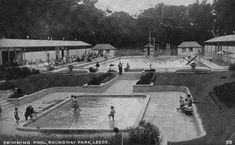 Swimming pool, Roundhay Park, postcard