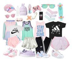 """""""Pastel Bro"""" by cartoonvillian ❤ liked on Polyvore featuring Victoria's Secret, Topman, Billabong, adidas, K-Swiss, Reebok, Ray-Ban, LIST, Forever 21 and Cult Gaia"""