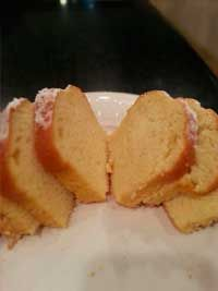 Coconut Cream Poundcake:  1 cup butter, softened  1 (8 ounce) package cream cheese, softened 3 cups white sugar 6 eggs 1 teaspoon coconut extract 3 cups all-purpose flour ½ teaspoon baking powder 2 cups flaked coconut   Click Here for the complete recipe: http://www.q99fm.com/BreakfastClub/FDT2014.aspx