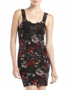 Lace-Necklace Floral-Print Dress by Free People at Neiman Marcus Last Call.