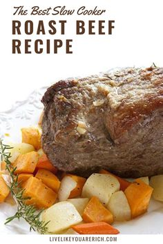 This slow cooker roast beef recipe is an amazing and easy dinner that is very filling and great used as leftovers. The Lion House, a very famous restaurant in my area, was kind enough to share. I hope you enjoy it as much as my family has over the years.