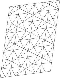 Ron Resch Triangular Waterbomb Tessellation   by oschene