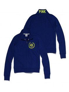 Victoria's Secret PINK Track Jacket #VictoriasSecret http://www.victoriassecret.com/pink/tops/track-jacket-victorias-secret-pink?ProductID=74511?cm_mmc=pinterest-_-product-_-x-_-x