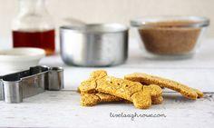 Pumpkin Peanut Butter Dog Treats - livelaughrowe.com
