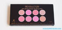 Paleta de coloretes All About Pink de MAKEUP REVOLUTION www.makeupintheair.com/paletas-de-makeup-revolution
