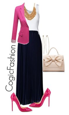 """Tonight at The Gospel According Dorinda!!"" by cogic-fashion ❤ liked on Polyvore featuring By Malene Birger, Forever 21, J.TOMSON, Dean Harris, Christian Louboutin and Forever New"
