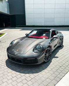 Sports Cars Lamborghini, Porsche Sports Car, Porsche Cars, Fancy Cars, Cool Cars, White Jeep Wrangler Unlimited, Red Interiors, Unique Cars, Sport Cars