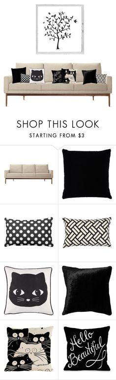 """Nameless ~ Gerjanne"" by deamagna ❤ liked on Polyvore featuring interior, interiors, interior design, home, home decor, interior decorating, Design Within Reach, Kevin O'Brien, Polaroid and Squarefeathers"