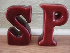 1940s S and P Salt and Pepper Shakers by bycinbyhand on Etsy