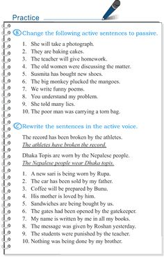 Grade 5 Grammar Lesson 12 Voice active and passive (4)