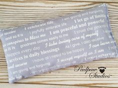 Affirmation Eye Pillow Yoga Eye Pillow Organic Lavender Flax Blue Law of Attraction Meditation Relaxing Recovery Gifts PadpawStudios