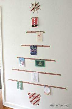 A Fun U0026 Easy Way To Display Your Holiday Cards   Instead Of Letting Our  Holiday Cards From Family And Friends Accumulate In A Messy Pile This Year,  ...