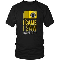 Show how much you love Photography with I Came I Saw I Captured Tee. Custom t-shirts, hoodies & mugs by Teelime.com