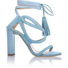 Chelsea Paris Aqua Sultan Heels ($555) ❤ liked on Polyvore featuring shoes, aqua shoes and aqua blue shoes