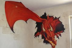 1000 images about creature art on pinterest dragon for Dragon mural wallpaper