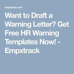 formal employee write up