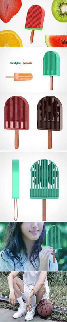 The Popsicle keeps you cool in an entirely different way that the name suggests! It's a first-ever personal fan that actually looks pretty cool for once! I usually imagine the people using portable fans as the same who wear fanny packs. It's usually the cherry on top of a touristy look. However, the Popsicle's playful form is just plain adorable!