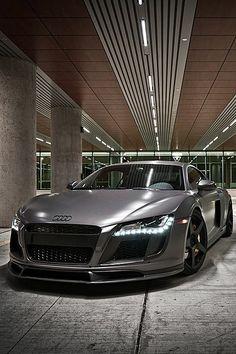Image via 2013 Audi Convertible from the team over at REGULA Tuning. Image via Gorgeous Matte Black Audi Audi R8, Audi Quattro, Audi 2017, Maserati, Bugatti, Dream Cars, My Dream Car, Fancy Cars, Cool Cars