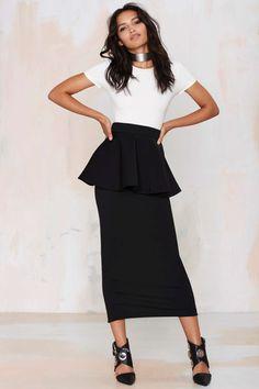 Asilio Remembering Sunday Peplum Skirt