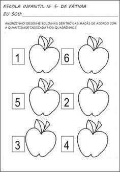 A Arte de Ensinar e Aprender: Atividades de matemática, numerais e quantidade Summer Fruit, Math Games, Maths, Education, Professor, Origami, Facebook, Infant Activities, Preschool Printables