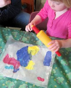 Love this simple painting activity for preschoolers!