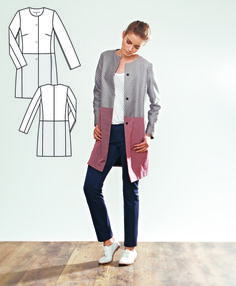 This coat is quick and easy with no time consuming details and a clean design…
